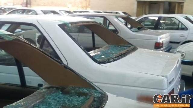 آسیب دیدن 4000 دستگاه از محصولات ایران خودرو در اثر تگرگ نیشابور