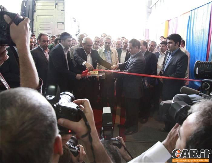 افتتاح خط تولید کامیون های ولوو در ایران