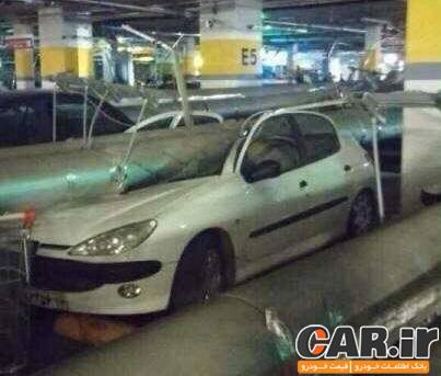 ریزش لوله های فاضلاب و آسیب دیدن 50 خودرو