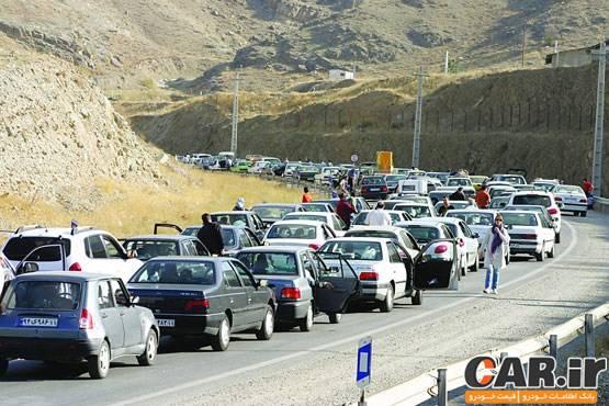 ترافیک سنگین در محورهای کرج - چالوس و رشت - قزوین