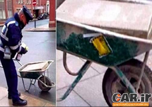 جریمه فرغون بنایی توسط پلیس انگستان