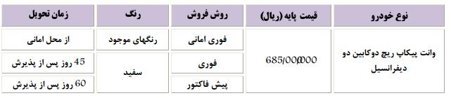 فروش فوری پیکاپ ریچ خرداد 94