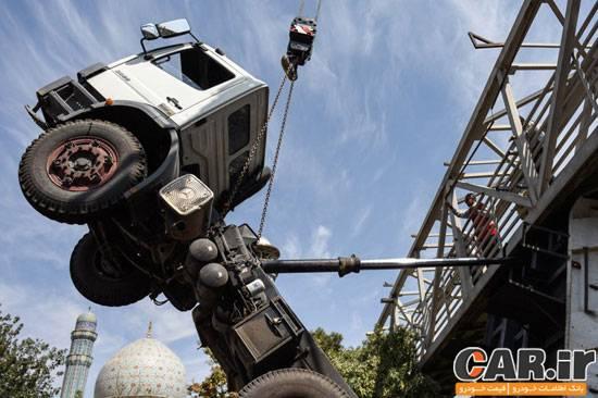تک چرخ کامیون در شهر ری