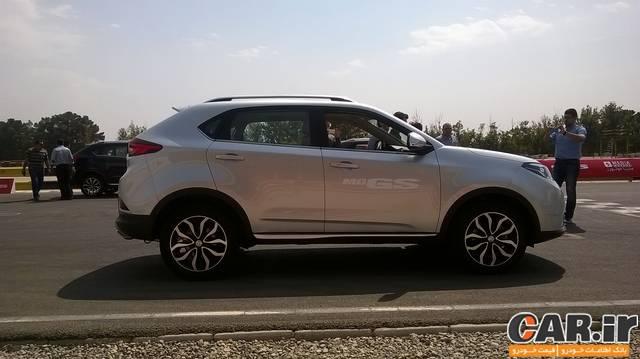 تجربه رانندگی با MG GS در پیست آزادی