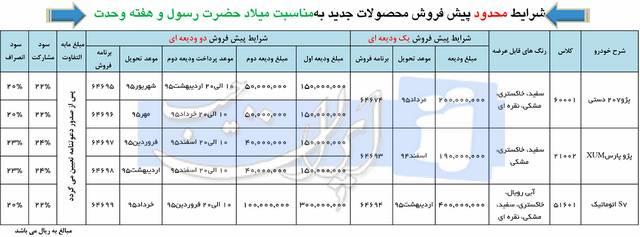 پیش فروش 207 و هایما و پارس XUM از طرف ایران خودرو