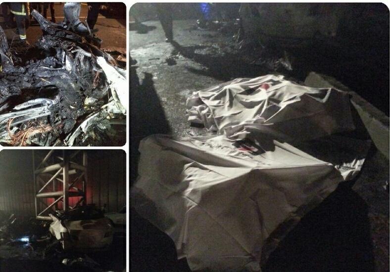 تصادف مرگبار یک BMW با پل عابرپیاده در بزرگراه نیایش