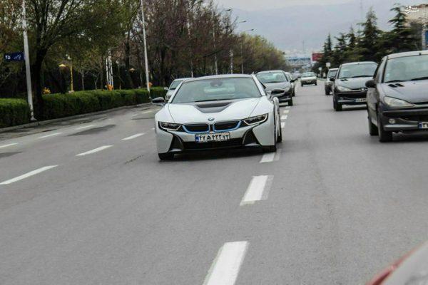 رژه خودروهای لوکس در تهران